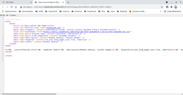 View source code in html page
