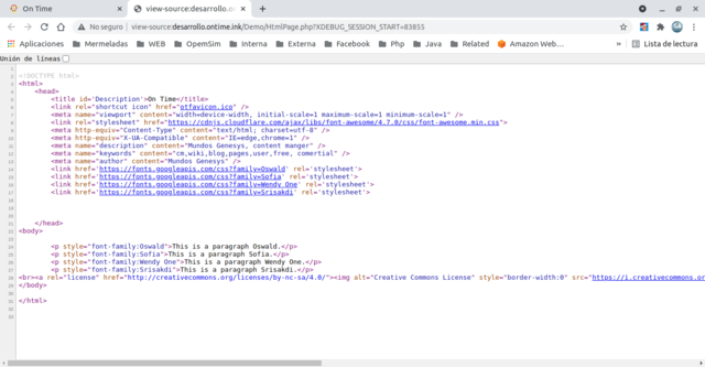 Show Source code of the web