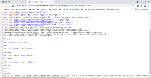 Layout source code